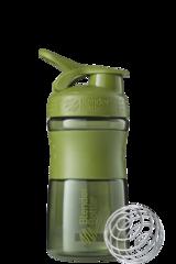 BlenderBottle SportMixer, Универсальная Спортивная бутылка-шейкер с венчиком.  Moss-Green-оливковый 591 мл