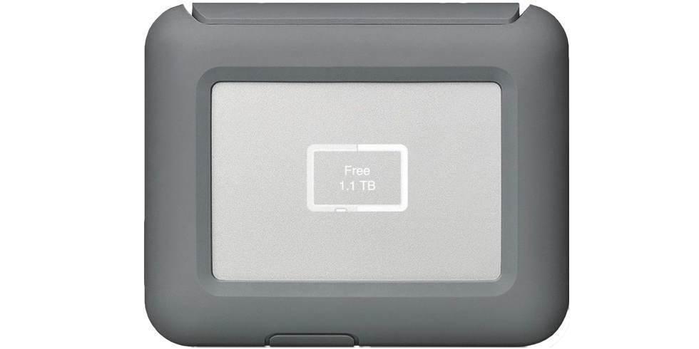 Внешний жесткий диск LaCie DJI Copilot USB 3.1 TYPE C Grey 2Tb вид спереди