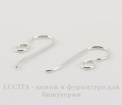 Швензы-крючки TierraCast 20х8 мм (цвет-серебро), пара