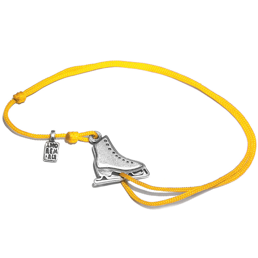 Figure Skating Bracelet, sterling silver