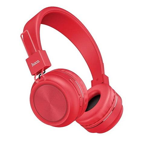 Наушники Bluetooth HOCO W25 Promise (microSD/AUX) (BT5.0, 12H) red