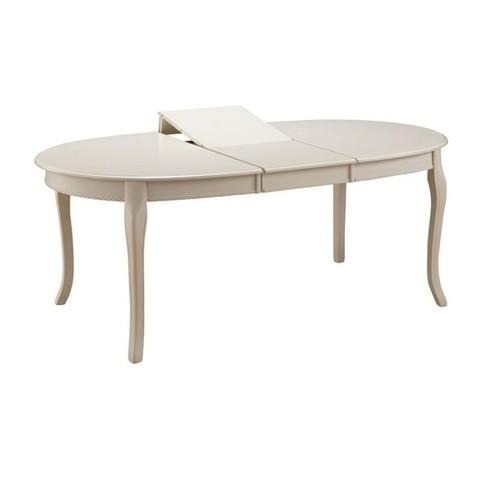 Стол обеденный Royal (Роял)  овальный раскладной деревянный сливочно-белый