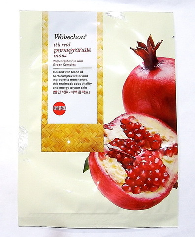 Тканевая маска для лица с гранатом Wobechon Pomegranate mask