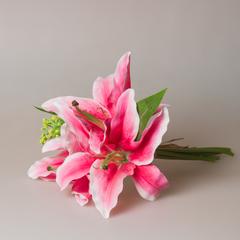 Букетик лилий розовый из 3-х шт., арт. 5760-2