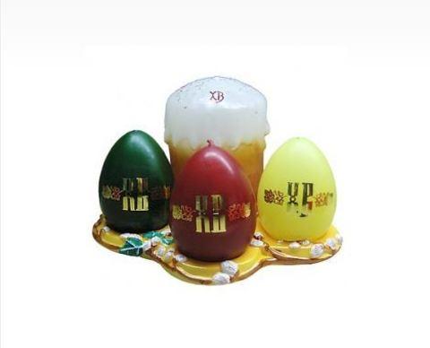 Пасхальный набор свечей № 2, парафин
