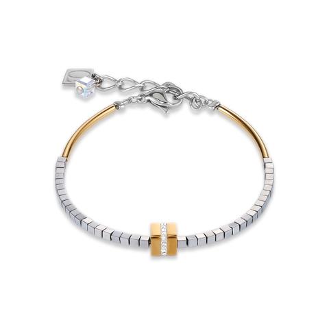 Браслет Coeur de Lion 4966/30-1617 цвет золотой, серый