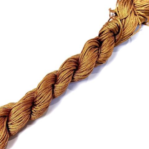Шнур для  браслетов Шамбала (нейлон) 1.0 мм. цвет охра