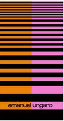 Набор полотенец 2 шт Emanuel Ungaro Geo розовый