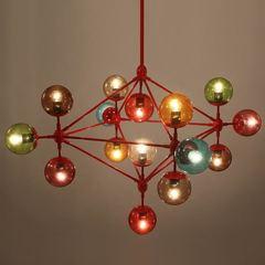 люстра Modo Chandelier 21 Globes color