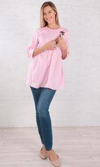 Евромама. Блуза для беременных и кормящих из эластичного хлопка