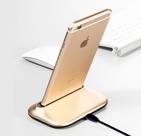 Док-станция для iPhone Desktop Charging station (Золотой)