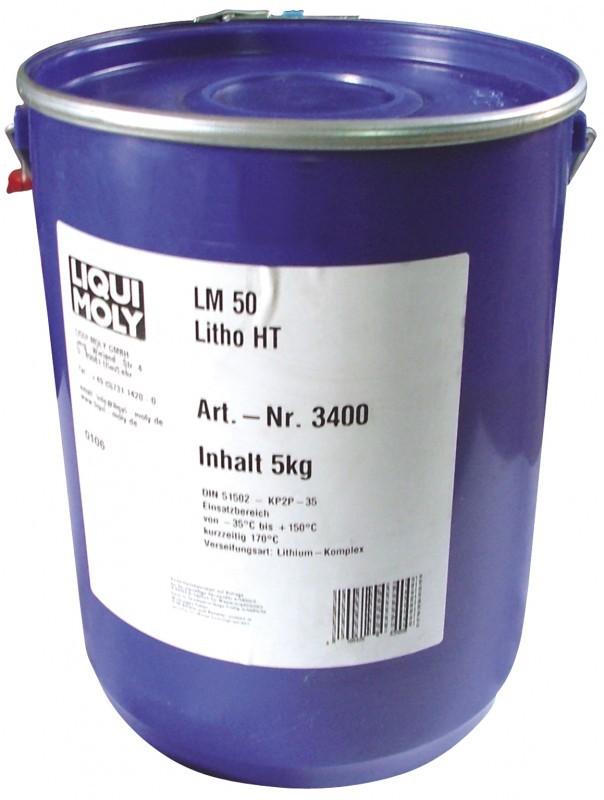 LM 50 Litho HT (5кг) — Высокотемпературная смазка для ступиц подшипников (Темно-синяя)