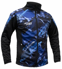 Лыжная разминочная куртка Ray Pro Race WS Blue-Black Print мужская
