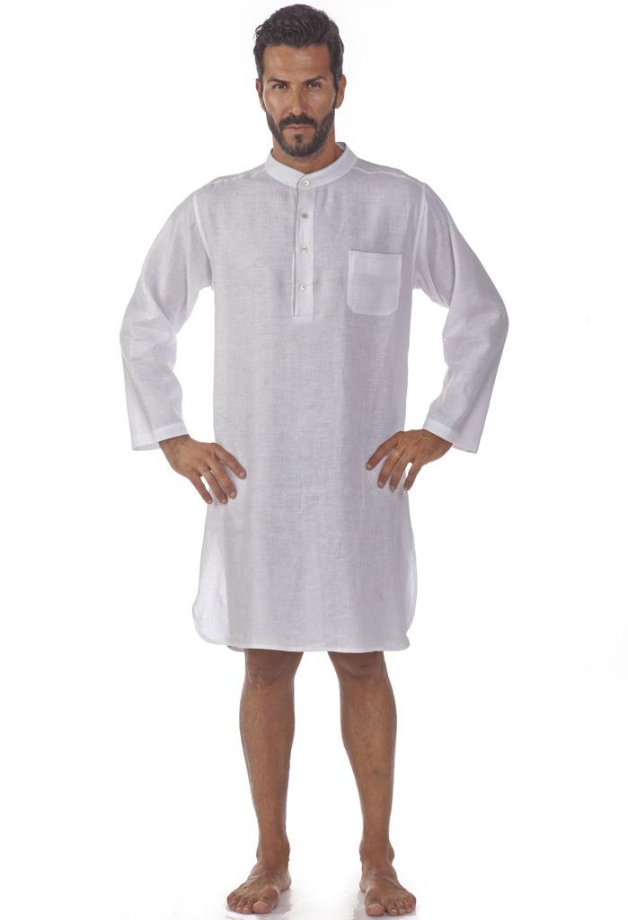 Льняная мужская ночная рубашка B&B