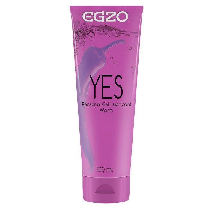 Возбуждающие: Согревающий лубрикант на водной основе Egzo Yes - 100 мл.