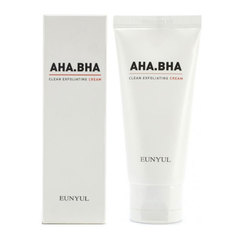 Eunyul AHA BHA Clean Exfoliating Cream - Обновляющий крем с AHA и BHA кислотами для чистой кожи