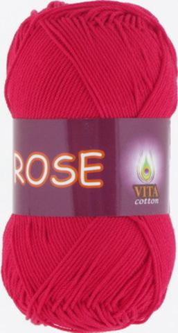 Пряжа Rose (Vita cotton) 3917 Красный