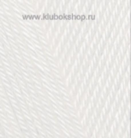 Пряжа Alize Diva цвет сахарно-белый 1055