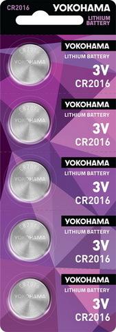 Батарейки литиевые Yokohama CR 2016 / 5 BL