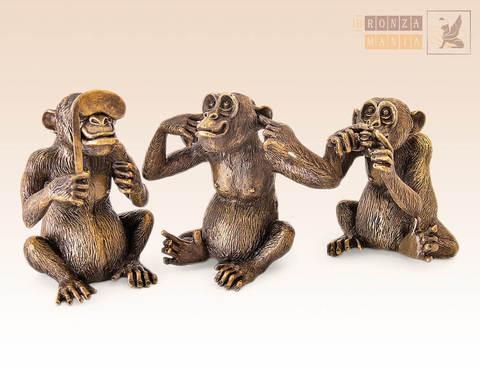 статуэтка Три Обезьяны - Не слышу, Не вижу, Не скажу