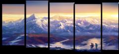 """Модульная картина """"Поход в горы"""""""
