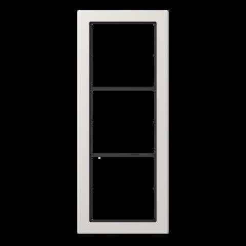 Рамка на 3 поста. Цвет Светло серый. JUNG FD - ДИЗАЙН. FD983LG