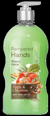 Фабрика Ромакс Pampered Hands Крем-мыло для рук Яблоко и корица 650г