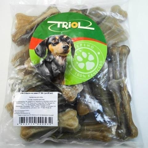 Triol Кость из жил 7,5 см (20-25г) пакет 25шт