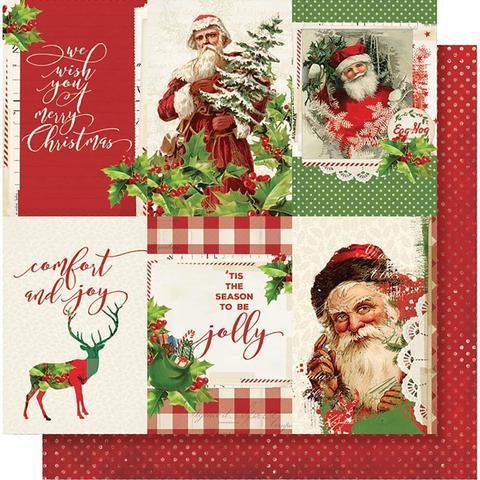 Лист двусторонней бумаги 30х30 см. - Simple Vintage Christmas - Vertical Elements