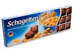 Альпийский молочный шоколад с кремовой начинкой из арахиса, 150г