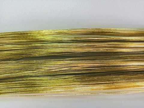Проволока в обмотке, цвет Золото, 1мм.