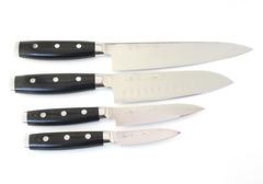 СЕТ кухонных ножей серия GOU & Ran, дамасская сталь, YAXELL, Япония