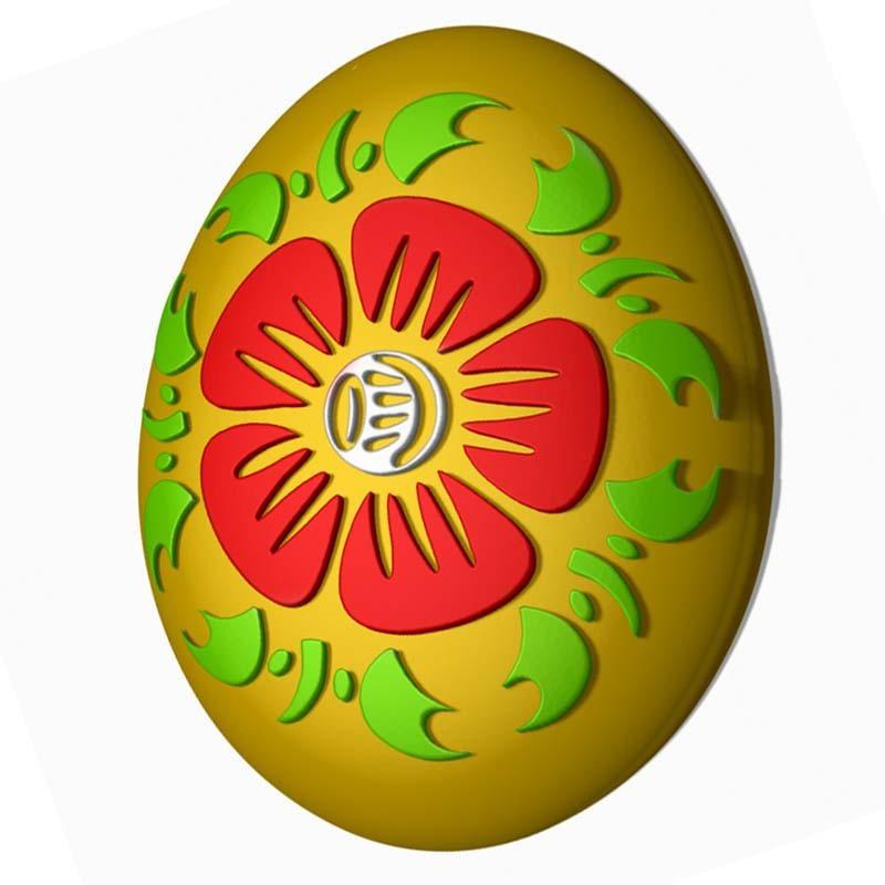 Яйцо Хохлома Форма для мыла