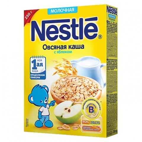 Nestlé® Молочная овсяная каша с яблоком 250гр
