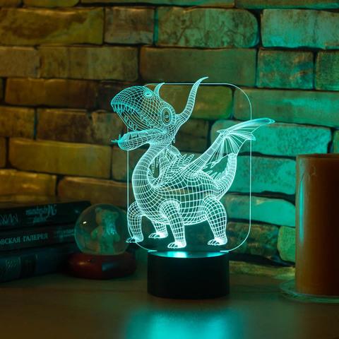 3D светильник Абстракция Дракоша
