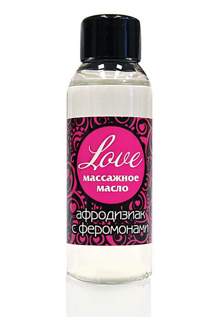 Массажные масла и свечи: Массажное масло с феромонами Love - 50 мл.