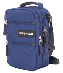 Сумка-планшет Wenger, синяя, 22x9x29 см