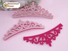 Заготовка Корона цветочная перфорация розово-коралловая