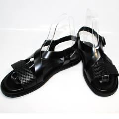Мужские сандалии из кожи Roberto Verbano 74609 Black.