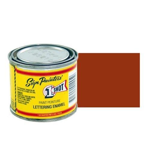 114-L Эмаль для пинстрайпинга 1 Shot Коричневый (Medium Brown), 118 мл