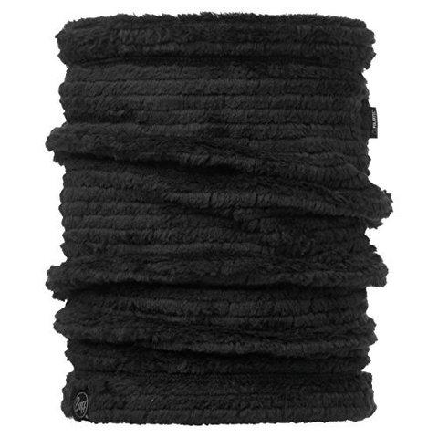 Теплый шарф-труба флисовый Buff Solid Graphite Black
