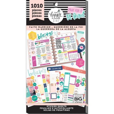 Блокнот со стикерами для ежедневника Create 365 Happy Planner Sticker Value Pack-BIG - Faith Warrior, 1010 шт