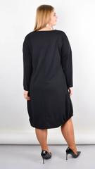 Джаз. Стильное платье большого размера. Черный.