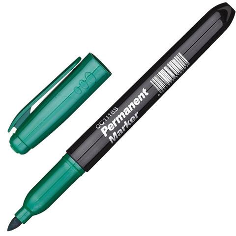 Маркер перманентный CC1118S зеленый 1-2мм