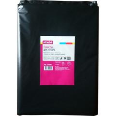 Мешки для мусора ПВД 160л 90х120см 65мкм черные 10шт/уп Attache