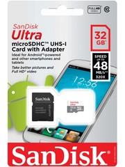 Карта памяти micro SDHC Sandisk UHS-I 64GB