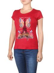 8523-1 футболка женская, красная