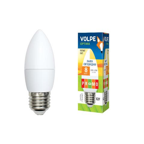 LED-C37-8W/WW/E27/FR/O Лампа светодиодная. Форма