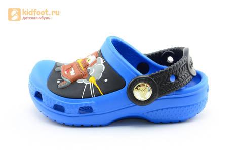 Сабо Крокс (Crocs) пляжные шлепанцы кроксы для мальчиков, цвет синий. Изображение 3 из 12.