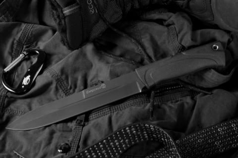 Туристический нож Егерский Черный Эластрон